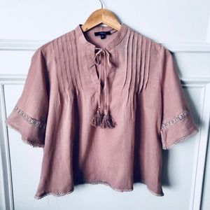 Tops - Beautiful Flowy Boho Mauve Tassel Top - NEW!